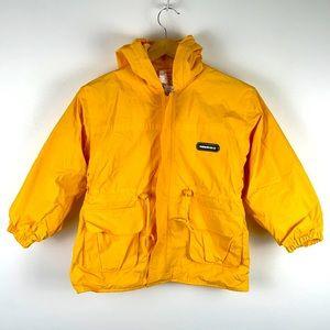 ✨3/$25✨WaterDuck Yellow Fleece Lined Rain Jacket